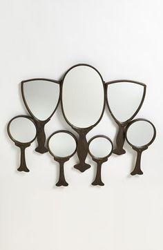 Cute + Crafty: Hand mirror wall art