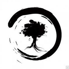 tea stain around a tree