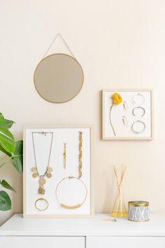 DIY Mounted Jewelry Display