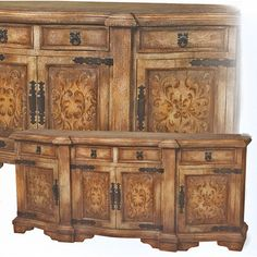 Alexander Large Sideboard PW-982-L-SCR. h1Alexander Large Sideboard PW-982-L-SCR_h1This Alexander Large Sideboard PW-982-L-SCR features four doors, four drawers, and scroll painting in a washed beige color.. See More Sideboards at http://www.ourgreatshop.com/Sideboards-C669.aspx