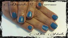 refil gel Des Nails gel color tourquose e finish mat effect