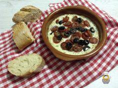 Bruschetta de provolone - Vuelta y Vuelta Bruschetta, Hummus, Oatmeal, Pudding, Breakfast, Ethnic Recipes, Desserts, Food, Spice