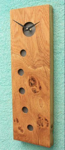 Rustic Oak Clock with Dark Acrylic