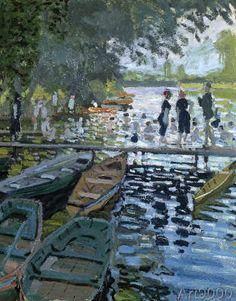 Claude Monet - Bathers at La Grenouillere, 1869 (detail of 32396)