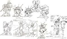 Early and Unused ZZ designs by Mamoru Nagano