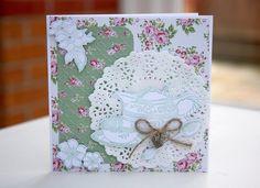 Wild Rose Teacup Card by StickerKitten #craftconsortium #graphic45 #timefortea