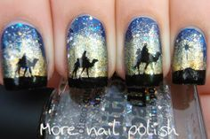 Three Wise Men nail art - More Nail Polish