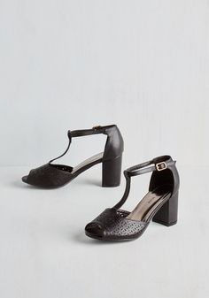 Dance Floor Diva Heel in Black From the Plus Size Fashion Community at www.VintageandCurvy.com