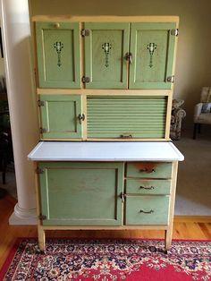 1222: Vintage Hoosier Cabinet on | Hoosier cabinet, Glass doors and ...