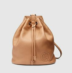 Gucci - soho leather drawstring backback