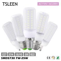 Tsleen 5x 5730 Smd Led Corn Lamp E27 E14 Gu10 G9 B22 7w 9w 12w 15w 20w 25w Milky White Lampada Led Light Bulb Cool Warm White Bright Luster Led Bulbs & Tubes Light Bulbs