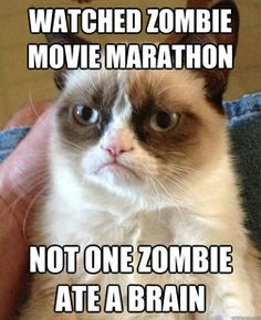 Watched #Zombie Movie Marathon...Not one Zombie  ate a brain...