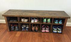 "54"" chaussure rustique Cubby banc"