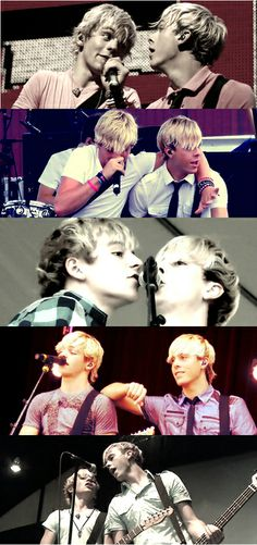 My baes   It's funny because I just realize that they always sing together in Riker's mic and now I found this picture.