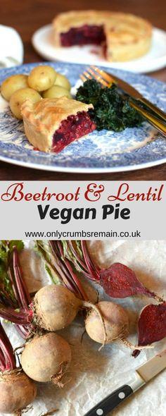 Vegan Beetroot & Lentil Pie Recipe