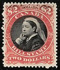Canada Revenue Queen Victoria $2 Bill Stamp MH van Dam FB53 - Bill, Canada, FB53, QUEEN, REVENUE, Stamp, Victoria
