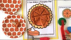 Introduce fractions with this Thanksgiving pumpkin pie play dough invitation and free printable play dough mats Thanksgiving Crafts For Kids, Thanksgiving Activities, Kindergarten Thanksgiving, Preschool Science Activities, Preschool Kindergarten, Kindergarten Readiness, Pie Craft, Math For Kids, Fun Learning