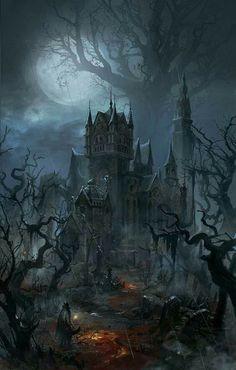 A gothic halloween dark fantasy art, fantasy rpg, fantasy world, fantasy artwork, Dark Fantasy Art, Fantasy Artwork, Fantasy Art Landscapes, Fantasy Kunst, Fantasy Landscape, Fantasy World, Dark Art, Fantasy Series, Fantasy Rpg