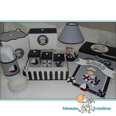 Kit bebê + porta maternidade-marinheiro