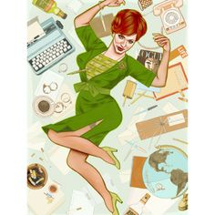 Joan Holloway Print by Caitlin Kuhwald