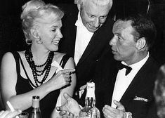 Marilyn Monroe and Frank Sinatra (who had multiple ties to the mob). It's said that she spent the last night of her life with mob leader Sam Giancana,  and Frank Sinatra.  Great story.