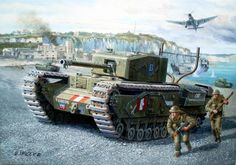 Churchill III at Dieppe, 1942. The Churchill III is a decent heavy tank, but is slower than most others. This tank makes up for its slow traverse speed with the fast fire of its gun. WWII - (V)