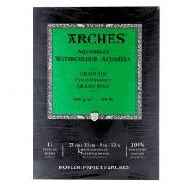 Aquarelle Arches Watercolour Pad Cold Pressed 12 Sheets