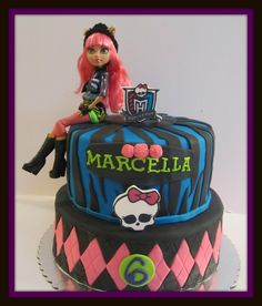 Monster High Cake  Pink Apron Confections Cakes Melbourne FL