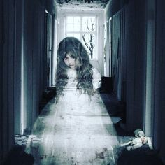 If you saw a ghost of a little girl in the hallway of your home would you be afraid of it or excited to see it? #hauntedelementary #hauntedhouse