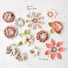Appliqué flowers crochet pattern