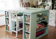 You are going to love this Craft Room Desk DIY and it will clear up your clutter no end. There is so much storage and we have a video to show you how