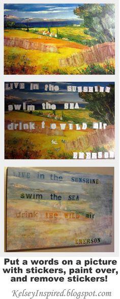 DIY pallet art (paint then stencil song lyrics, famous quotes ...