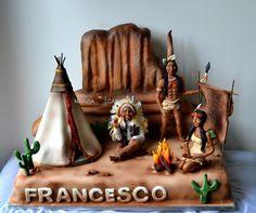 Edible Art. American Indian Reservation Cake.