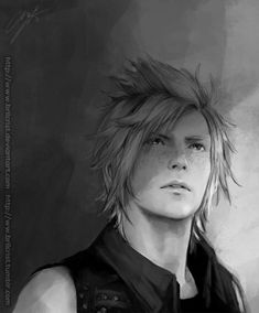 Some Prompto speed paint study from my twitter.