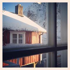 Rorbu room with a view. #Eliassen #Rorbu #Fishermens #Cabins #Reine #Lofoten #NorthernNorway #Visitnorway Photo: Gran/visitnorway
