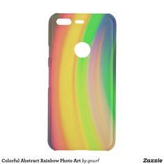 Colorful Abstract Rainbow Photo Art Uncommon Google Pixel Case Colorful Abstract Art, Abstract Photos, Rainbow Photo, Minimal Design, Printing Process, Photo Art, Art Photography, Phone Cases, Google
