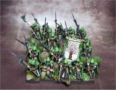 Wood Elves / High Elves - The Cherry Blossom Grove Warhammer Wood Elves, Warhammer Aos, Warhammer Fantasy, Infinity The Game, Wood Elf, High Elf, Paint Schemes, Painting Inspiration, Bunt