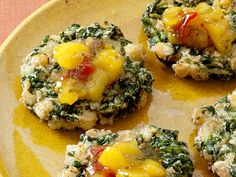 Indian Spinach-and-Chickpea Fritters Recipe : Food Network - FoodNetwork.com