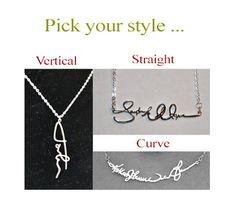 Signature Necklace 925 Sterling Silver por bigEjewelry en Etsy
