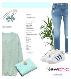 """Newchic #8 (Adidas Look)"" by antemore-765 ❤ liked on Polyvore featuring Frame Denim, adidas Originals, Disney, women's clothing, women, female, woman, misses and juniors"