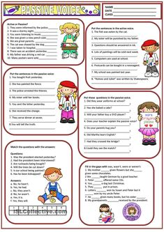 Students learn the Passive Voice with the help of this chart. Grammar: Passive voice or active voice; Teaching English Grammar, English Grammar Worksheets, Grammar Book, Grammar Tips, Grammar Rules, Grammar Practice, Grammar And Vocabulary, English Vocabulary, Active And Passive Voice