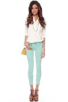try a button down tucked into a pair of Mint jeans with wedges and switch up your festival style