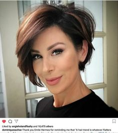 Flattering layered short haircuts for thick hair . - Flattering layered short haircuts for thick hair Flattering layered short h - Short Hairstyles For Thick Hair, Short Layered Haircuts, Haircut For Thick Hair, Short Hair With Layers, Curly Hair Styles, Layered Cuts, Bobs For Thick Hair, Short Bobs, Thick Short Hair Cuts