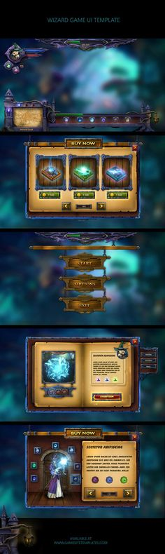 Wizard-magic-mobile-game-ui-template-collage by karsten