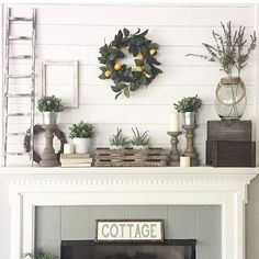 We are here to decorate for Spring! My mantle shelf is something I love love love - but it also perplexes me with each changing holiday and season.