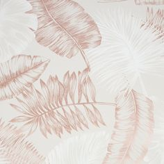 Daintree Taupe and Rose Wallpaper (Taupe/Rose Gold), Brown