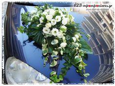 ΣΤΟΛΙΣΜΟΣ ΓΑΜΟΥ - ΒΑΠΤΙΣΗΣ :: Στολισμός Γάμου Θεσσαλονίκη και γύρω Νομούς :: ΣΤΟΛΙΣΜΟΣ ΓΑΜΟΒΑΠΤΙΣΗΣ ΜΕ VINTAGE ΑΛΟΓΑΚΙ ΚΩΔ.:ALOG-1049 Wedding Car Deco, Hair Trends, Wedding Hairstyles, Wedding Decorations, Cars, Flowers, Plants, Vintage, Automobile