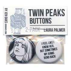 Twin Peaks Button Set by Jen Oaks