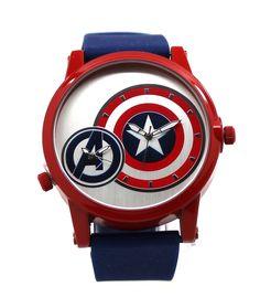 Captain America Avengers Dual Time Shield Mens Watch (AVG1520)