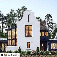 """#Repost @markwkirby  Dixon Kirby  ・・・  """"If you are not willing to risk the usual, you will have to settle for the ordinary."""" Jim Rohn. This house pushed the boundaries for our town - who knew it would be one of our most popular homes ever!  #dixonkirby #infilldoneright #raleigh #itb @dixonkirbyhomes"""